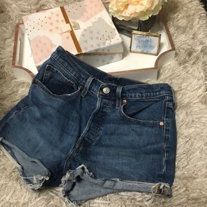 Levis 501 High Waisted Shorts